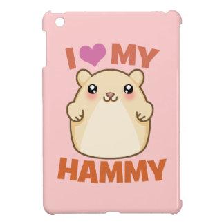 I Love (Heart) My Hammie (pink) iPad Case