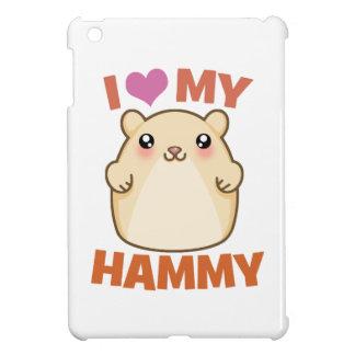 I Love (Heart) My Hammie (white) iPad Case