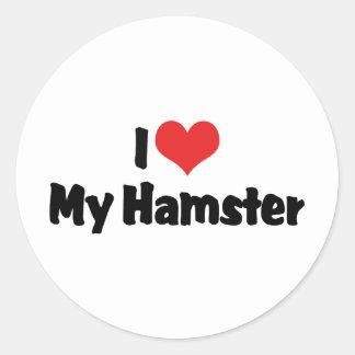 I Love Heart My Hamster Classic Round Sticker