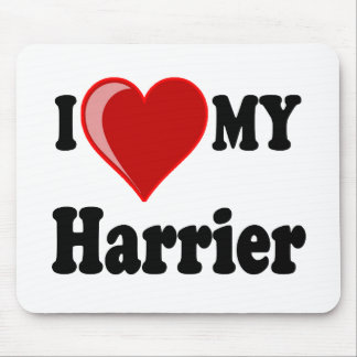 I Love (Heart) My Harrier Dog Mouse Pad