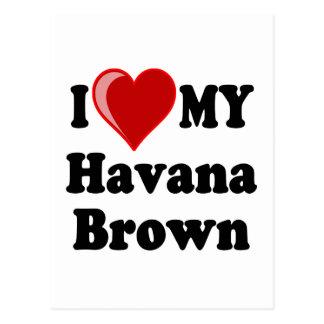 I Love (Heart) My Havana Brown Cat Postcard