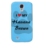 I Love (Heart) My Havana Brown Pawprint Design Samsung Galaxy S4 Case