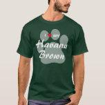 I Love (Heart) My Havana Brown Pawprint Design T-Shirt