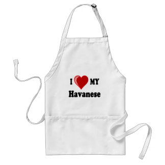 I Love (Heart) My Havanese Dog Adult Apron
