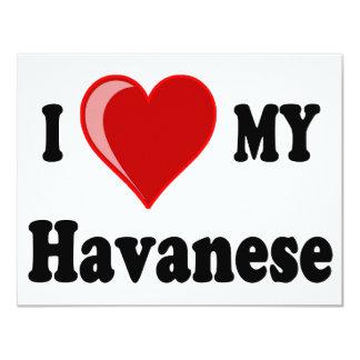 I Love (Heart) My Havanese Dog Card