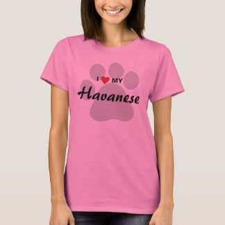 I Love (Heart) My Havanese Dog Lovers Shirt