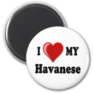 I Love Heart My Havanese Dog Refrigerator Magnets