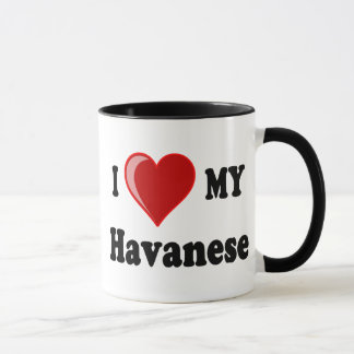 I Love (Heart) My Havanese Dog Mug