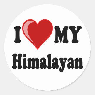 I Love (Heart) My Himalayan Cat Classic Round Sticker