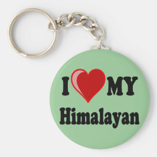 I Love (Heart) My Himalayan Cat Keychains