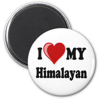 I Love (Heart) My Himalayan Cat Magnets