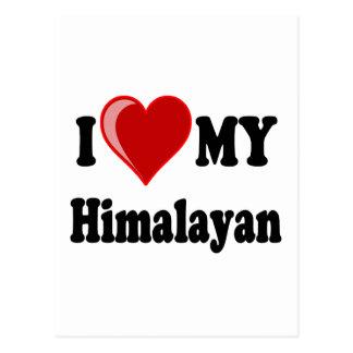 I Love (Heart) My Himalayan Cat Postcard