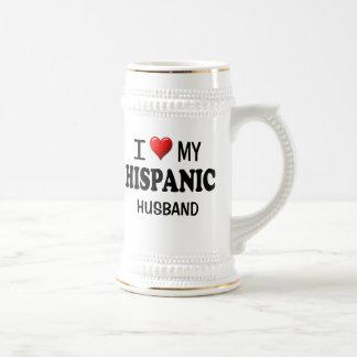 I Love (Heart) My Hispanic Husband Mugs