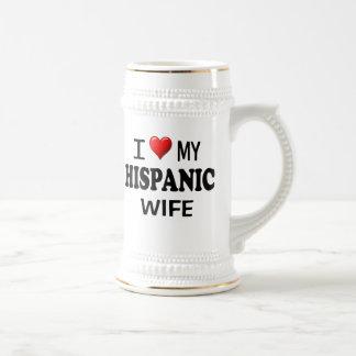 I Love (Heart) My Hispanic Wife Mugs