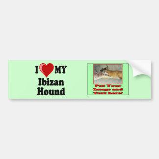 I Love (Heart) My Ibizan Hound Dog Bumper Sticker