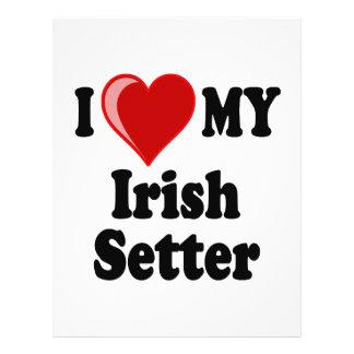 I Love (Heart) My Irish Setter Dog Personalized Flyer