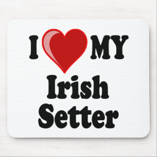 I Love (Heart) My Irish Setter Dog Mouse Pad