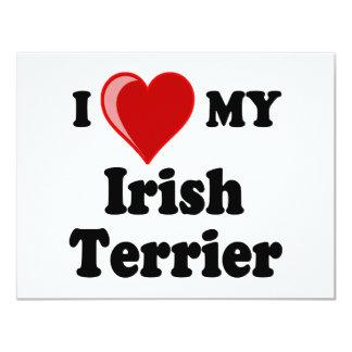 I Love (Heart) My Irish Terrier Dog Card