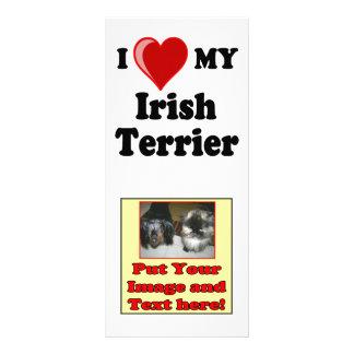 I Love Heart My Irish Terrier Dog Rack Card