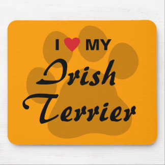 I Love Heart My Irish Terrier Mouse Pads