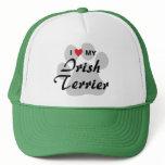 I Love (Heart) My Irish Terrier Trucker Hat