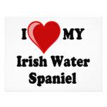 I Love (Heart) My Irish Water Spaniel Dog Invite