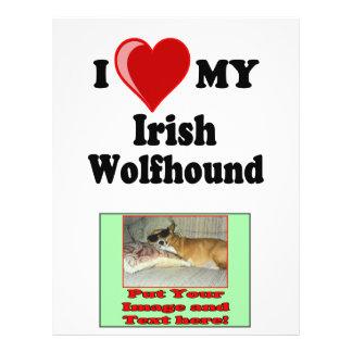 I Love (Heart) My Irish Wolfhound Dog Flyer Design