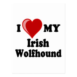 I Love (Heart) My Irish Wolfhound Dog Post Card