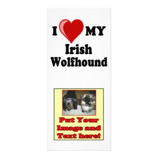 I Love (Heart) My Irish Wolfhound Dog Rack Card