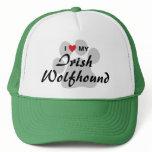 I Love (Heart) My Irish Wolfhound Trucker Hat