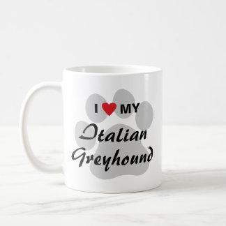 I Love (Heart) My Italian Greyhound Coffee Mug