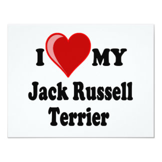 I Love (Heart) My Jack Russell Terrier Dog Card