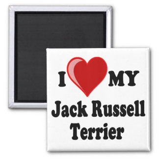 I Love (Heart) My Jack Russell Terrier Dog Magnet