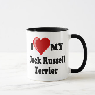 I Love (Heart) My Jack Russell Terrier Dog Mug