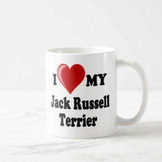 I Love (Heart) My Jack Russell Terrier Dog Coffee Mug