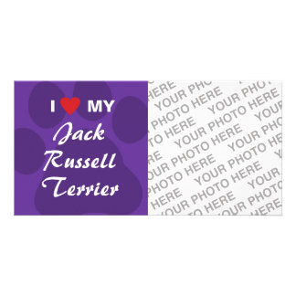 I Love (Heart) My Jack Russell Terrier Photo Cards
