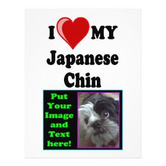 I Love (Heart) My Japanese Chin Dog Flyer