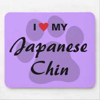 I Love (Heart) My Japanese Chin Mousepads