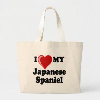 I Love (Heart) My Japanese Spaniel Dog Bags