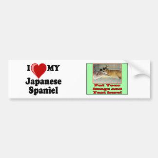 I Love (Heart) My Japanese Spaniel Dog Bumper Sticker