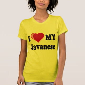 I Love (Heart) My Javanese Cat Shirts