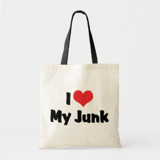 I Love Heart My Junk - Antique Picker Collector Tote Bag