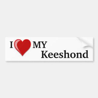 I Love (Heart) My Keeshond Dog Bumper Sticker
