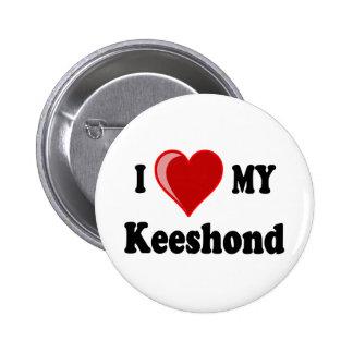 I Love (Heart) My Keeshond Dog Pin