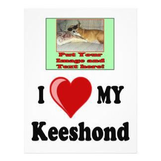 I Love (Heart) My Keeshond Dog Flyer