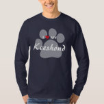 I Love (Heart) My Keeshond Pawprint T-Shirt