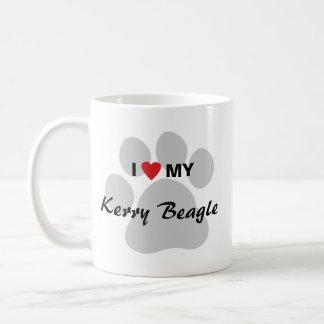 I Love (Heart) My Kerry Beagle Pawprint Coffee Mug