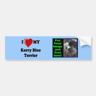 I Love (Heart) My Kerry Blue Terrier Dog Bumper Sticker