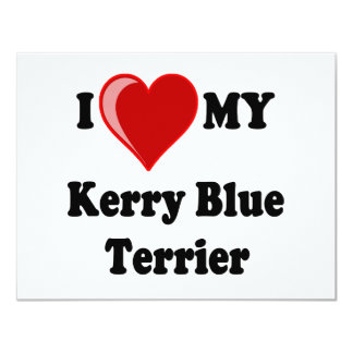 I Love (Heart) My Kerry Blue Terrier Dog Card