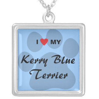 I Love (Heart) My Kerry Blue Terrier Necklace